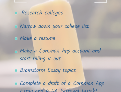 Rising Senior Summer To-Do List